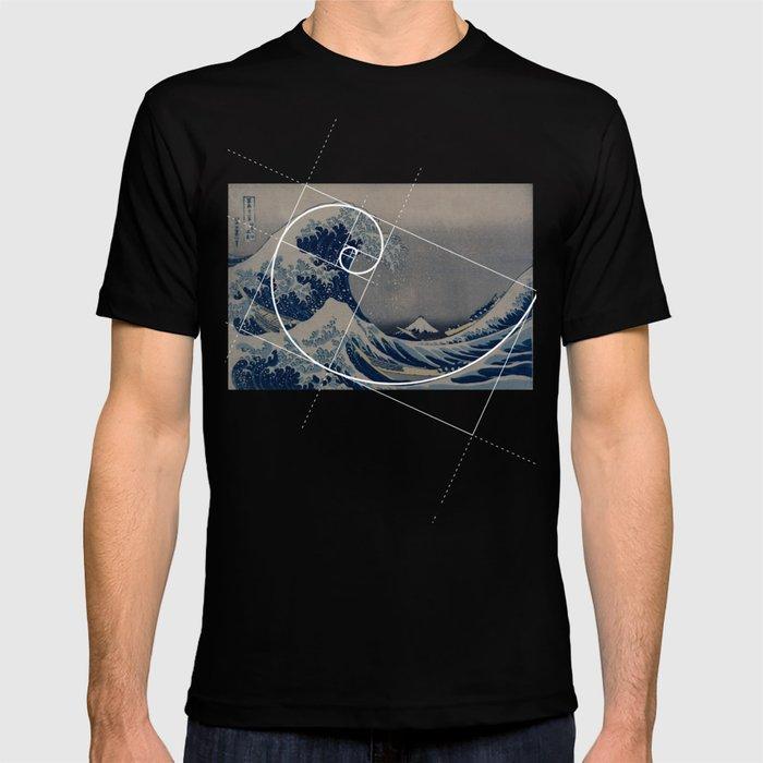 Hokusai Meets Fibonacci T-shirt