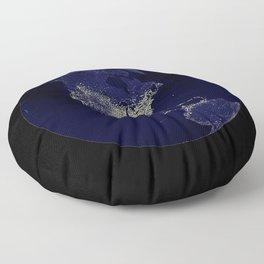 Earth Globe Lights Floor Pillow