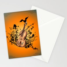 Violin with violin bow Stationery Cards