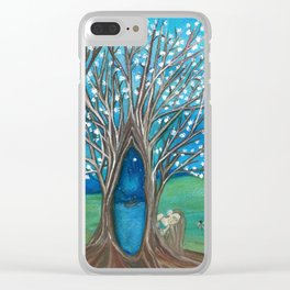 exploring my secret garden Clear iPhone Case