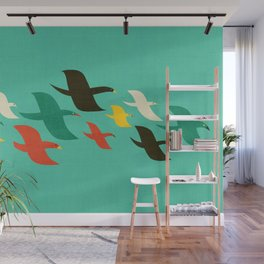Birds are flying Wall Mural