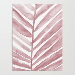 Pink Palm Leaf Crop Poster