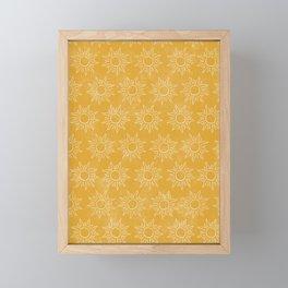 Sun pattern Framed Mini Art Print