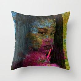 Nia vs Nature2 Throw Pillow
