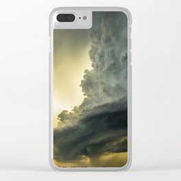 Supercell - Massive Storm Over the Great Plains Clear iPhone Case