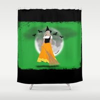 witch Shower Curtains featuring Witch by UrsusUnlimited