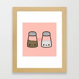 Cute salt and pepper Framed Art Print