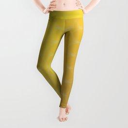 Yellow to Orange Scale Ombre Circle Gradient Leggings