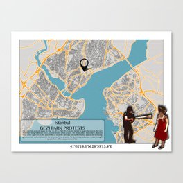 Atlas of Inspiring Protests; ISTANBUL Canvas Print