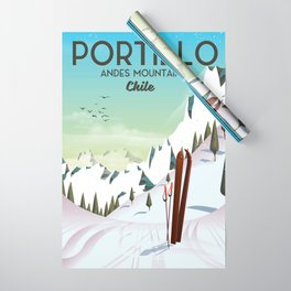 Portillo Ski Chile Ski travel poster. Wrapping Paper