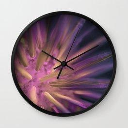 Psychedelic Dandelion Wall Clock
