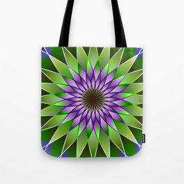 Lavender lotus mandala Tote Bag