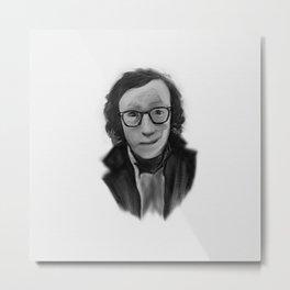 Woody Allen Portrait Metal Print