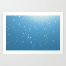 Bubbles up to the sun Art Print