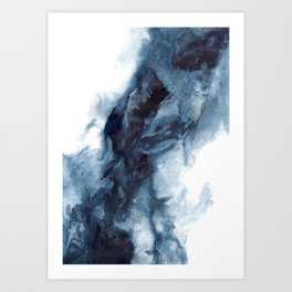 Indigo Depths No. 1 Art Print