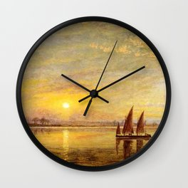 On the James River, Virginia by Edward Lamson Henry Wall Clock