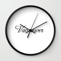 vancouver Wall Clocks featuring Vancouver by Blocks & Boroughs
