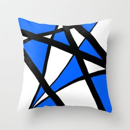 China Blue Geometric Triangle Abstract Throw Pillow