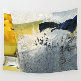 Mellow Yellow Texture Collage Wall Tapestry