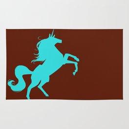 unity university unicorns (cyan) Rug