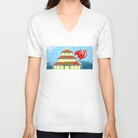 fairy tail V-neck T-shirts featuring Fairy Tail Segmented by JoshBeck
