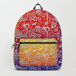 Rainbow White Joshua Tree by CREYES Backpack