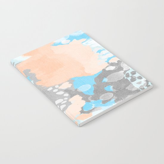 Sheyn - Modern abstract print in summer colors fresh beach design abstract painting decor Notebook