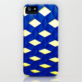 Trapez 2/5 Blue & Yellow by Brian Vegas iPhone Case
