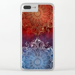Mandala - Fire & Ice Clear iPhone Case