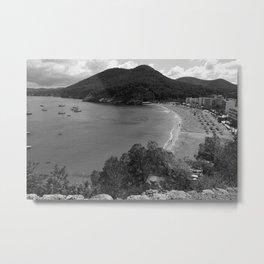 Black and White Ibiza Metal Print