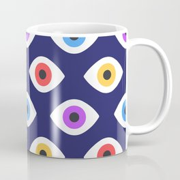 Lucky Eyes Vintage Pattern Coffee Mug
