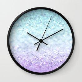 MERMAIDIANS AQUA PURPLE Wall Clock