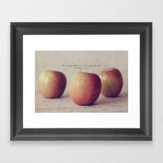 Be a Good One Framed Art Print