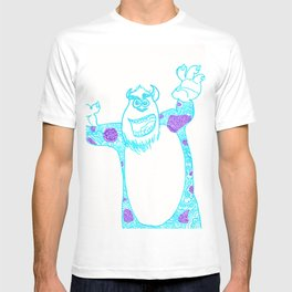 42. University Monster in Halloween with Henna Pattern T-shirt