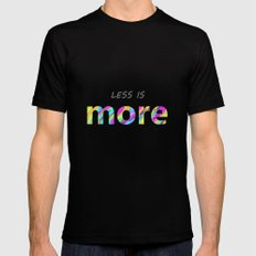 Less is more. Mens Fitted Tee Black MEDIUM