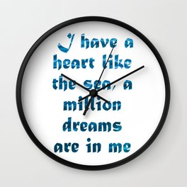 Heart Like The Sea Wall Clock
