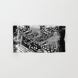 platine board conductor tracks splatter watercolor black white Hand & Bath Towel