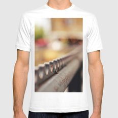 Fence White Mens Fitted Tee MEDIUM