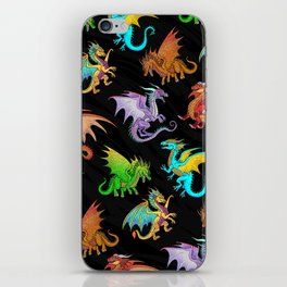 Colorful Rainbow Dragons School iPhone Skin