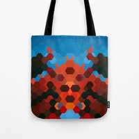 crab Tote Bags featuring CRAB by ED design for fun