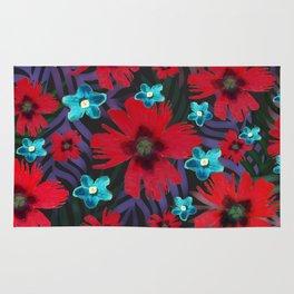 Carnations & Columbine Flowers Rug