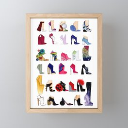 Which Shoe Do I Wear Today? Framed Mini Art Print