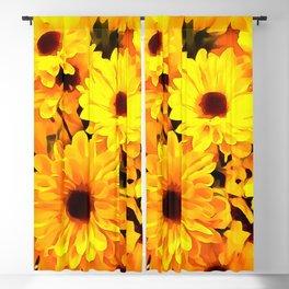 Daisies Yellow 3 Blackout Curtain