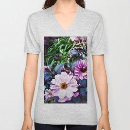 Dahlia Garden Unisex V-Neck