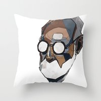 freud Throw Pillows featuring Freud by PAFF