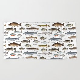 A Few Freshwater Fish Beach Towel