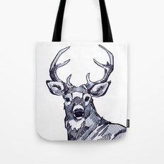 Oh My Deer Black and White Tote Bag