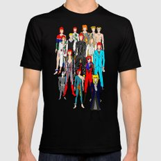 Bowie Doodle Mens Fitted Tee X-LARGE Black