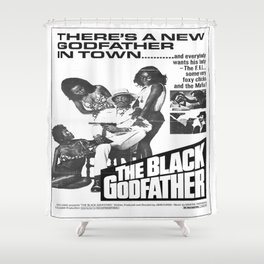 The Black Godfather Shower Curtain