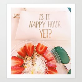 happy hour treats Art Print